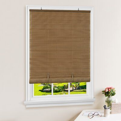 Ebern Designs Solstice Vinyl Semi Sheer Roll Up Shade Blind Size 72 W X 72 L Color Finish Brown Blinds For Windows Blinds Roller Shades