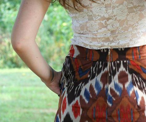 ikat skirt found on Etsy