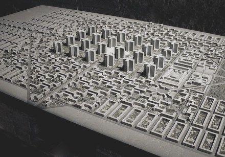 Le Corbusier S Contemporary City 1925 The Charnel House Le Corbusier City Design City