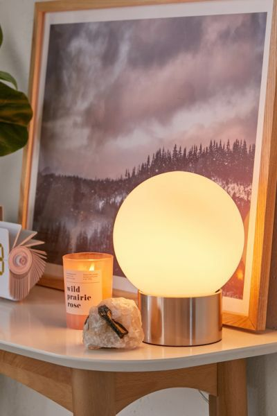 Delia Frosted Globe Table Lamp Lamp Table Lamp Modern Lamp