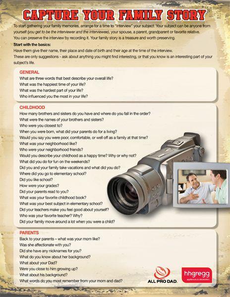 How to Capture Your Family Story  www.allprodad.com...