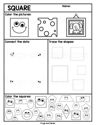 2d Shapes Worksheets Frogs And Fairies Shapes Worksheets Kindergarten Learning Activities Shapes Identifying 2d shapes worksheets