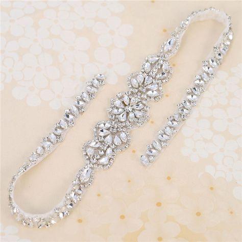 Cintura per Abito da Sposa con Cristalli e Strass Cintura di Perle da Sposa Cintura da Sposa con Strass di Cristalli Cintura da Sposa Fascia Cristallo