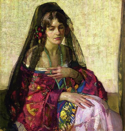Image result for richard e miller paintings black mantilla