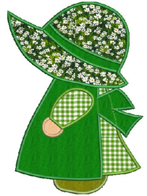 Sunbonnet Sue machine embroidery Applique zip w/PDF - Famous Last Words Sunbonnet Sue, Applique Quilt Patterns, Machine Embroidery Applique, Embroidery Patterns, Felt Patterns, Paper Embroidery, Doily Patterns, Creeper Minecraft, Doll Quilt