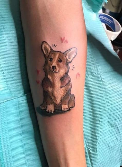 Corgi tattoo