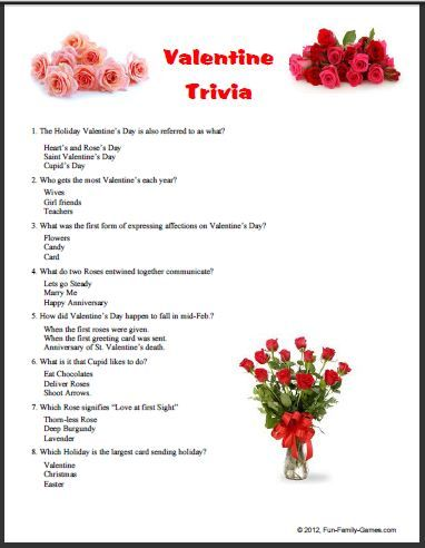 Valentine S Day Trivia Questions And Answers Valentines Day Trivia Trivia Questions And Answers Me On Valentines Day