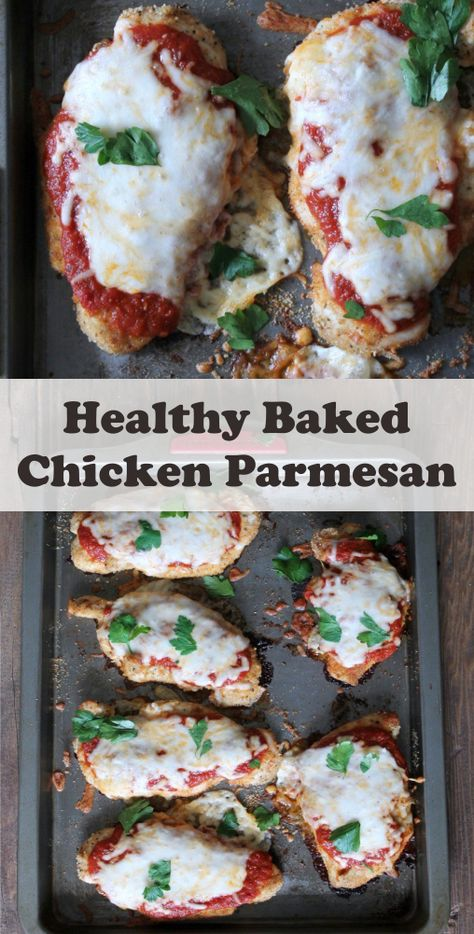 Healthy Baked Chicken Parmesan - Best easy cooking - Best easy cooking