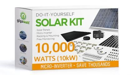 10kw Solar Panel Installation Kit 10000 Watt Solar Pv System For Homes Complete Grid Tie Systems Diy Solar Panel Solar Kit Solar Energy Panels
