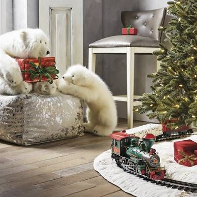 Diamond Bear Hugs Stuffed Polar Bear Frontgate Decorative Pillows Christmas Polar Bear Christmas Indoor Christmas Decorations