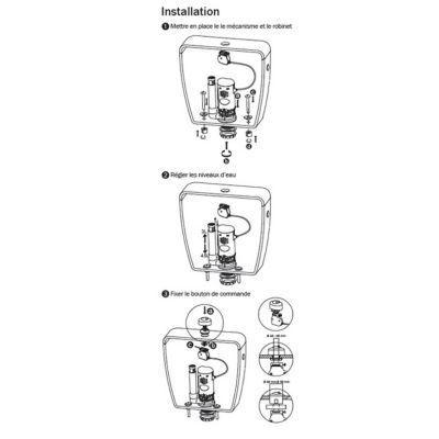 Mecanisme De Chasse D Eau Commande A Cable Diall En 2020 Chasse D Eau Chasse Et Castorama