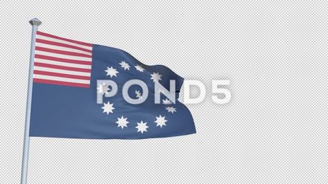 88a7835becc Easton Pennsylvania - Loopable 3D flag animation with Alpha Channel and  Trans Stock Footage