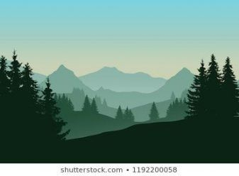 Trendy Landscaping Illustration Realistic Ideas Landscaping Mountain Silhouette Landscape Mountain Landscape