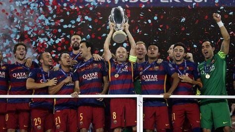 UEFA Supercup celebrations #FCBarcelona #UEFASuperCup #CampionsFCB #FansFCB