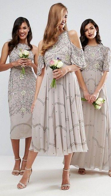 Neutral Bridesmaid Dresses by ASOS