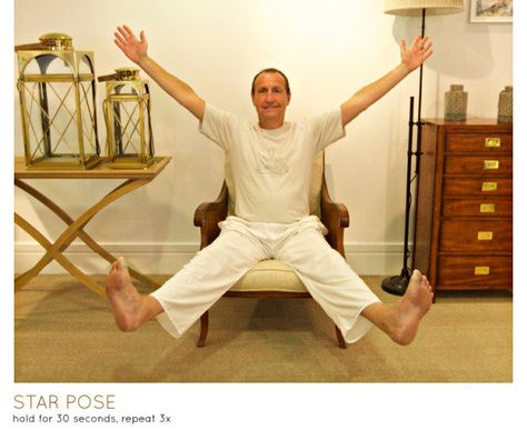 star pose 2  chair yoga stretching exercises for