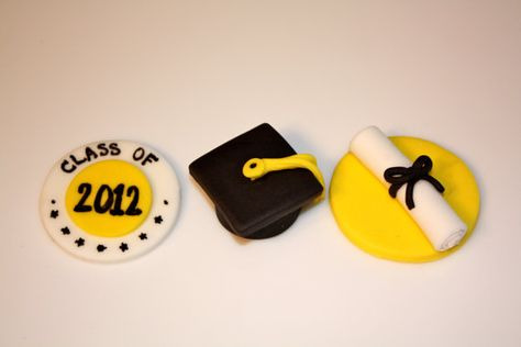 Cupcake toppers, these would be perfect in black and red
