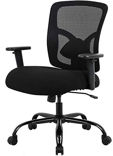 Best Seller Big Tall Office Chair 400lbs Wide Seat Desk Chair Computer Chair Lumbar Support Adjustable Arms Task Rolling Swivel Mesh Executive High Back Ergon In 2020 Ergonomic Chair Tall Office