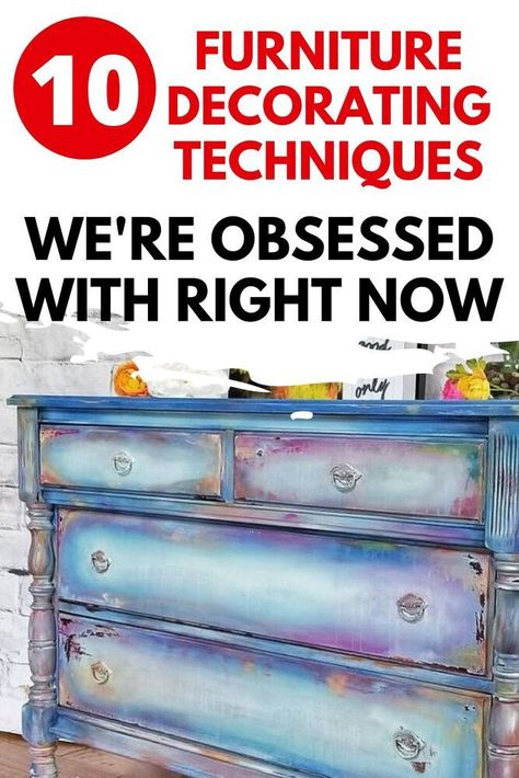 Upcycled furniture is a great way to decorate your bedroom, living room, kitchen, entryway and dining room on a budget. Check out these beautiful and easy furniture makeover ideas for your thrift store finds and flea market flips.