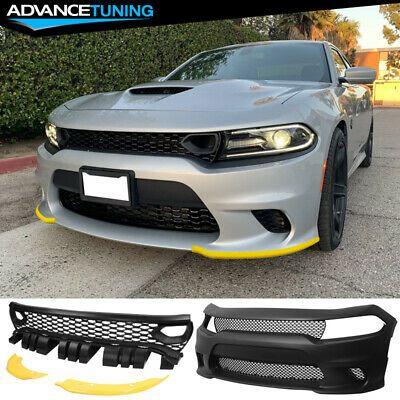 Fits 15 20 Dodge Charger Srt Front Bumper Updated 2019 Style Grilles Charger Srt Dodge Charger Dodge Charger Srt