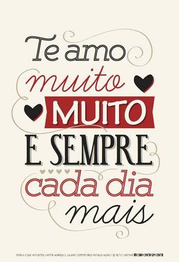 Amo Te Demasiadamente E Incomensuravelmente Mensagens De Amor