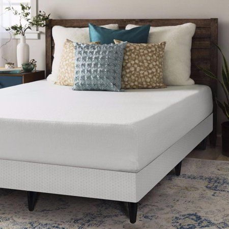 Free Shipping Buy Crown Comfort Full Size Memory Foam Mattress 10 Inch With Box Spring With Legs Set Bed Frame Sets Queen Size Memory Foam Mattress Bed Frame