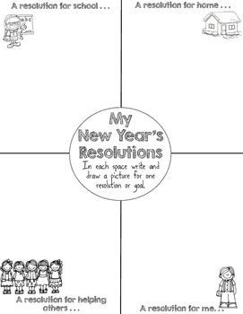 New Year S Resolutions Writing Activity New Year Writing Center Resolution First Grade Writing Writing Activities Third Grade Writing