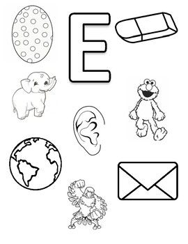 Letter E Coloring Page Preschool Letters Preschool Activities