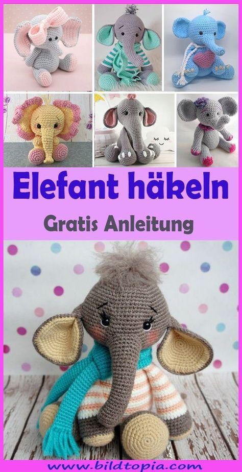 Amigurumi Elefant häkeln – kostenlose & einfache Anleitung - Handwerk  #Amigurumi #Anleitung #Einfache #Elefant #häkeln #Handwerk #kostenlose
