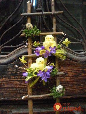 Najkrajšia ozdoba na vchodové dvere: Vezmite lacné umelé kvety, kúsok kartónu a konáriky - krajší nápad nenádjete!