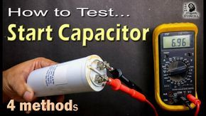 How To Test Motor Start And Motor Run Ac Capacitor Of Ac Fan And Compressor Ac Capacitor Capacitors Diy Electrical