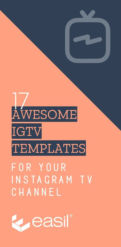 Try this IGTV Cover Template + many more! 17 Stunning IGTV Templates for your Instagram TV Channel #InstagramTips #IGTV #InstagramStories #Templates