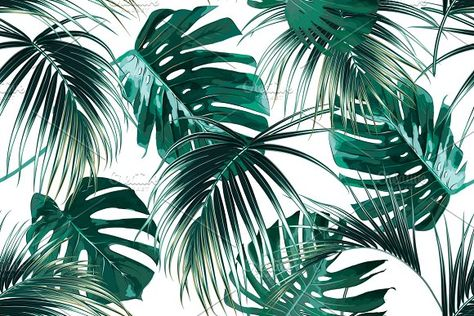 Tropical jungle leaves pattern by Tropicana on