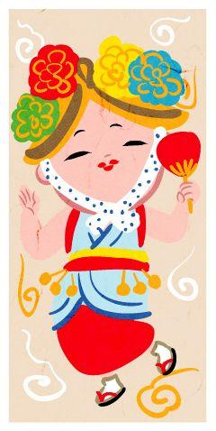 かわいいねぶた祭りのハネト衣装のイラスト 祭 イラスト
