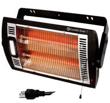 Ceiling Mounted Dual Infrared Quartz Heater Heater Portable Space Heater Halogen Lighting
