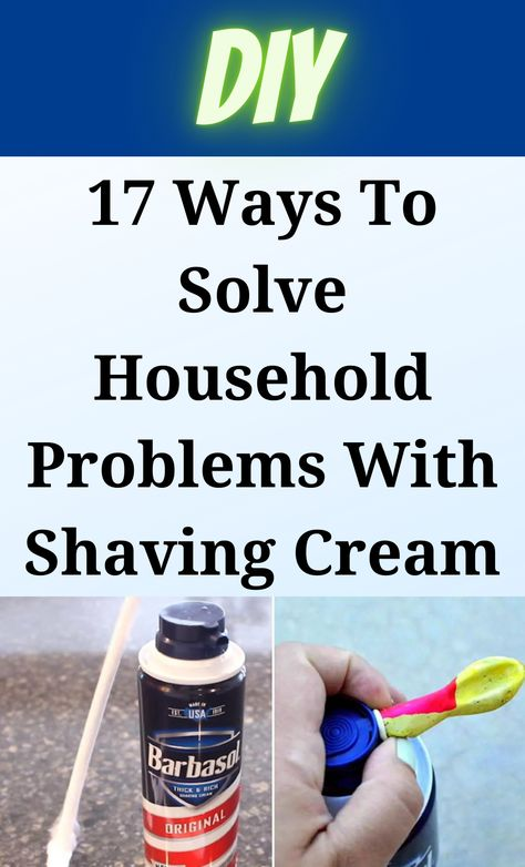 Homemade Cleaning Supplies, Household Cleaning Tips, Diy Cleaning Products, Cleaning Hacks, Simple Life Hacks, Useful Life Hacks, Diy Home Crafts, Shaving Cream, Home Repair