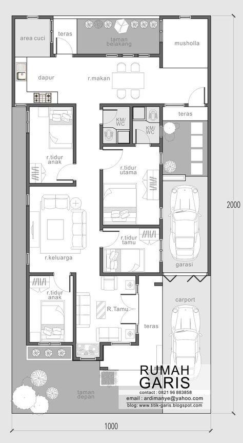 New House Projects Architecture Layout 32 Ideas Denah Rumah Tata Letak Rumah House Blueprints