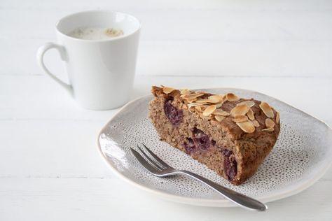 Fur Die Kaffeepause Zwischendurch Buchweizen Walnuss Kuchen Mit Kirschen Kuchen Mit Kirschen Walnusskuchen Kuchen