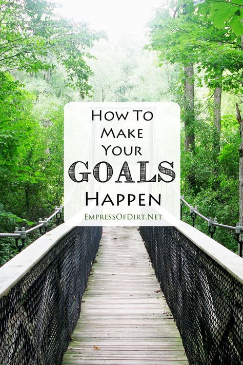 7 Steps to set your goals and actually make them happen - works for anything - weight loss, decluttering, moving, debt-management