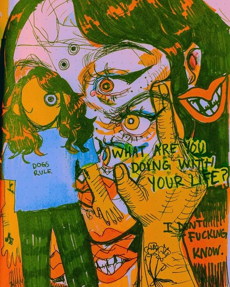 navigation home ask submit redux edit by king Hi I'm Lizbeth im 20 and i luv to draw hehe ART Art Sketches, Art Drawings, Trippy Drawings, Arte Peculiar, Arte Punk, Posca Art, Arte Obscura, Arte Sketchbook, Hippie Art