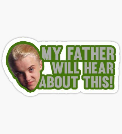 Draco Malfoy Stickers Harry Potter Stickers Harry Potter Toms Stickers