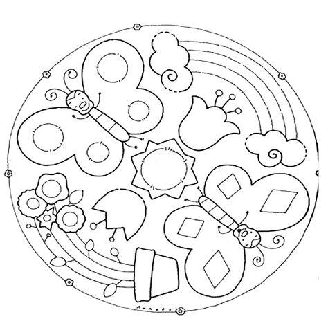 10 Mandala Della Primavera Da Colorare Mandala Disegni Di