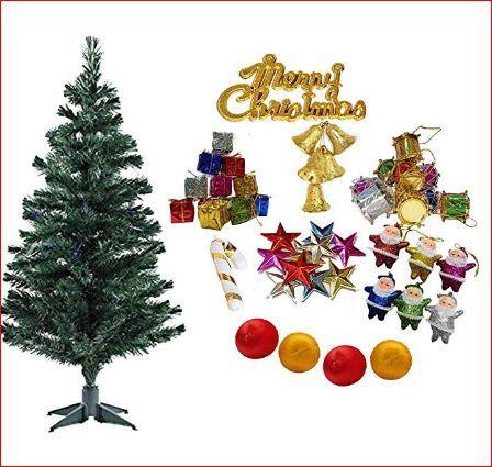 Christmas Xmas Tree With 50 Decoration Ornaments 3 Feet For Home Decoration X Mas Tree For Christmas Decor With Prop Christmas Decorations Tree Gift Xmas Tree
