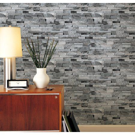 Modern 3d Brick Stone Style Wallpaper Bedroom Living Mural Roll Wall Background Gray Walmart Com Brick Texture Old Brick Wall Brick Wall Background