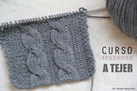 Curso APRENDER A TEJER CON DOS AGUJAS (Cap 11) Como hacer ochos o trenzas en tejidos de lana