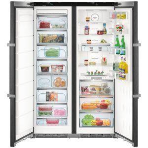 Liebherr Sbsbs 8673 Premium Biofresh Nofrost Side By Side Fridge Freezer Energystorage Refrigerateur Americain Refrigerateur Acier Inox