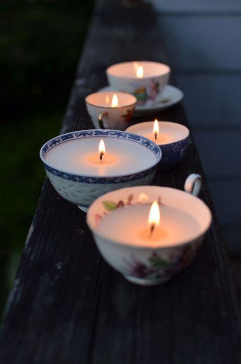 DIY: Vintage Tea Cup Candles.
