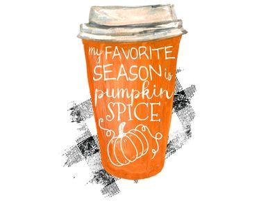 My Favorite Season Is Pumpkin Spice Coffee Plaid Fall Shirt Digital Watercolor Digital Png Pumpkin Spice Coffee Pumpkin Spice Spiced Coffee