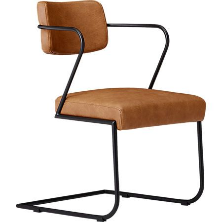 Gaff Metal Frame Chair Brown With Images Metal Frame Chair Chair