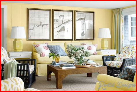 nice Country living room decor ideas | Rentaldesigns | Pareti gialle ...